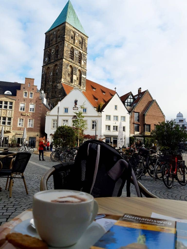 Kaffeepause auf dem Hermannsweg