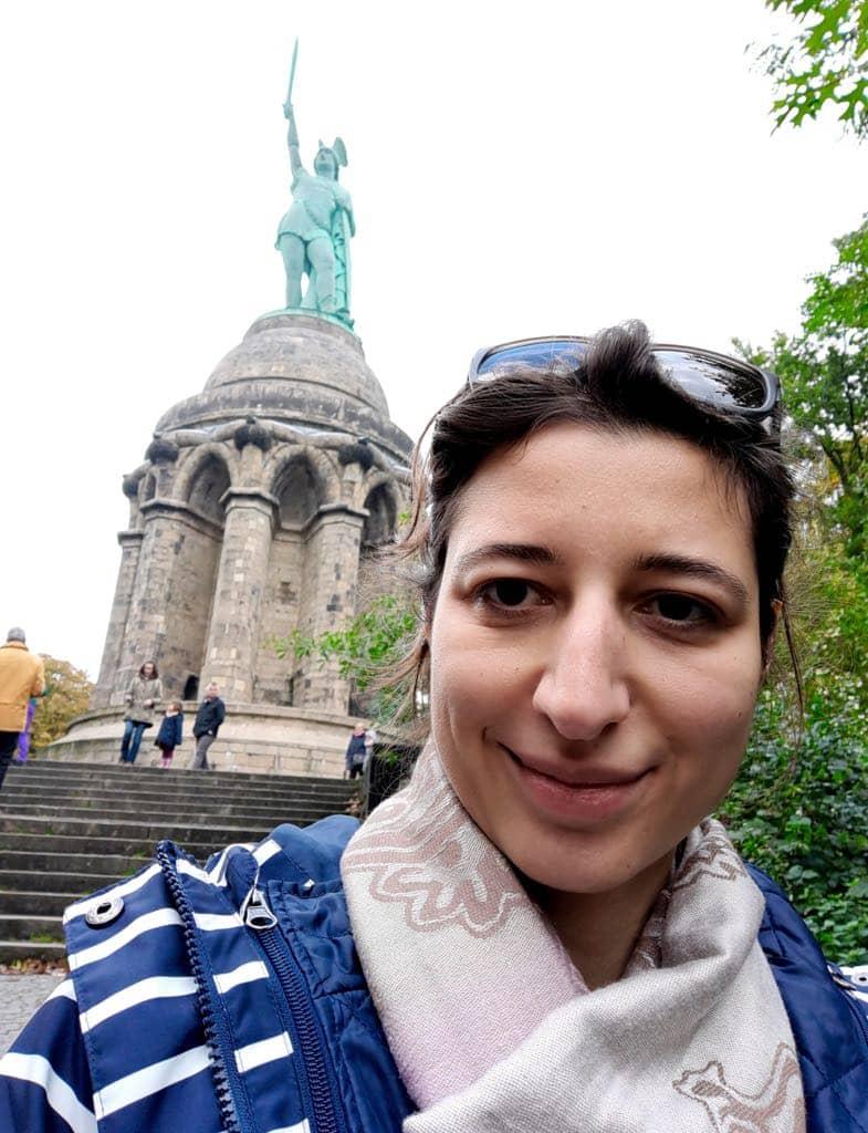 Rebecca auf dem Hermannsweg